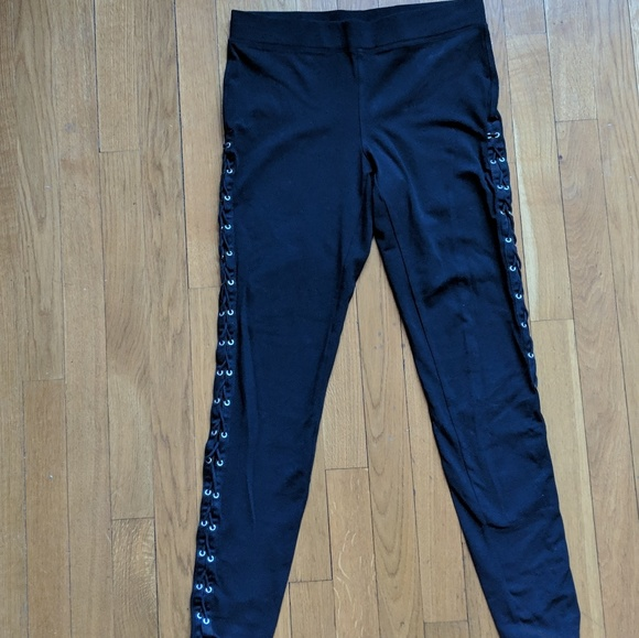 d2b1efe3b8e84 Express Pants | Leggings With Lace Up Side Detail | Poshmark
